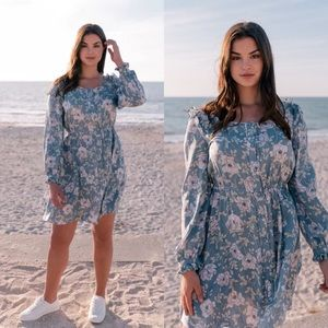 NWT Gal Meets Glam Madeline Blue Floral Dress